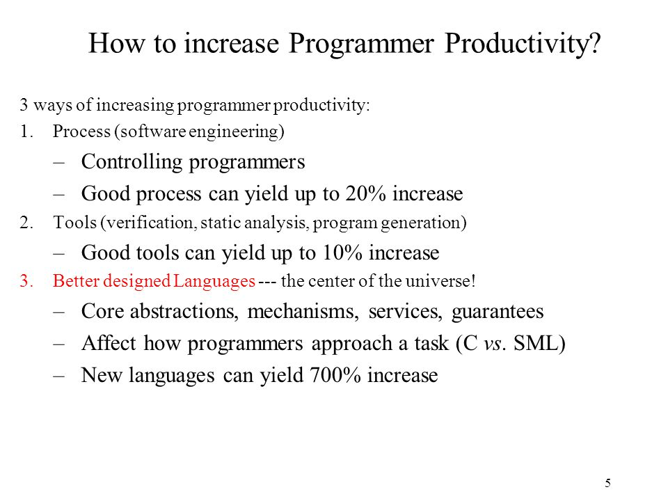 5 How to increase Programmer Productivity.