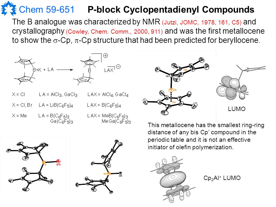 Chem 59-651 The B analogue was characterized by NMR (Jutzi, JOMC, 1978, 161, C5) and crystallography (Cowley, Chem.