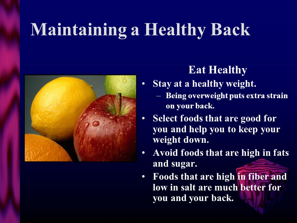 Maintaining a Healthy Back Exercise IS good for your back!