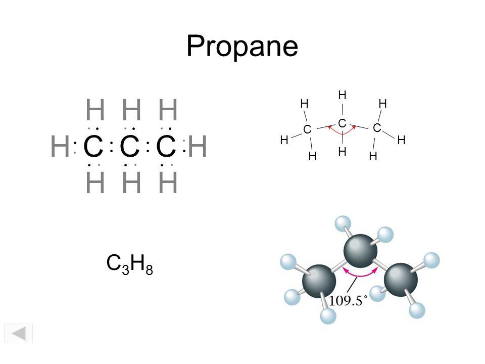 Propane C H CH H C H H HHH C C C H H H H H H H H C3H8C3H8