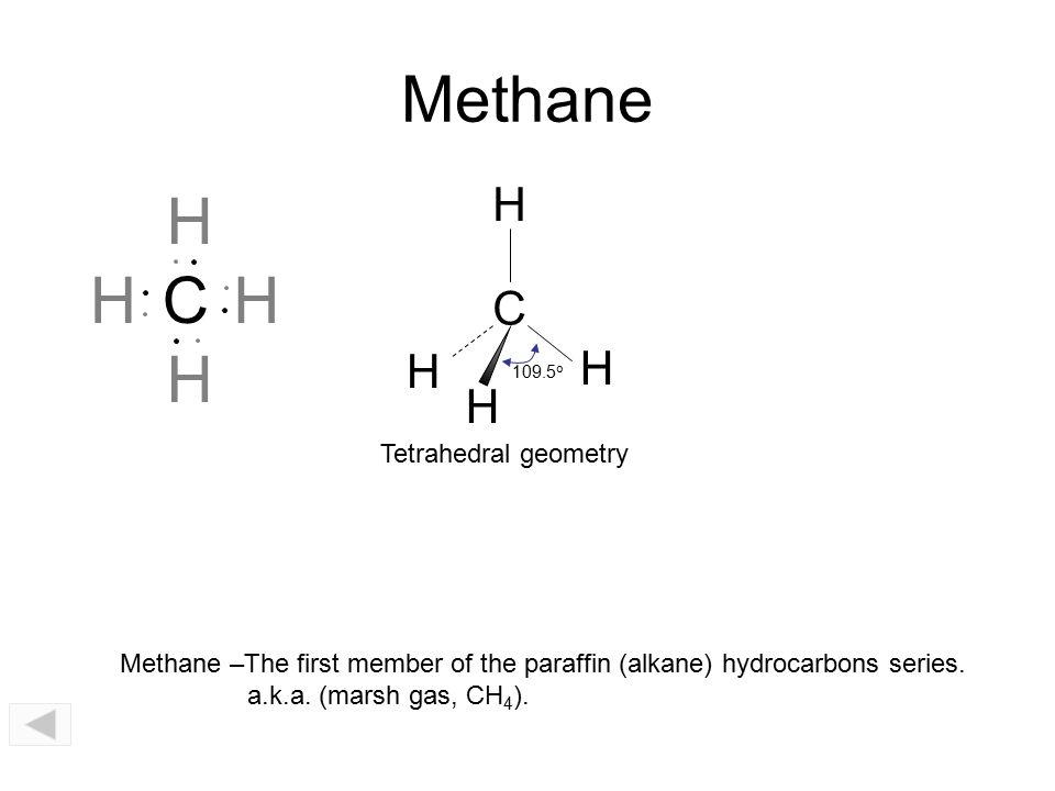C 109.5 o H H H H N 107 o H H H..O 104.5 o H H.. CH 4, methaneNH 3, ammoniaH 2 O, water..