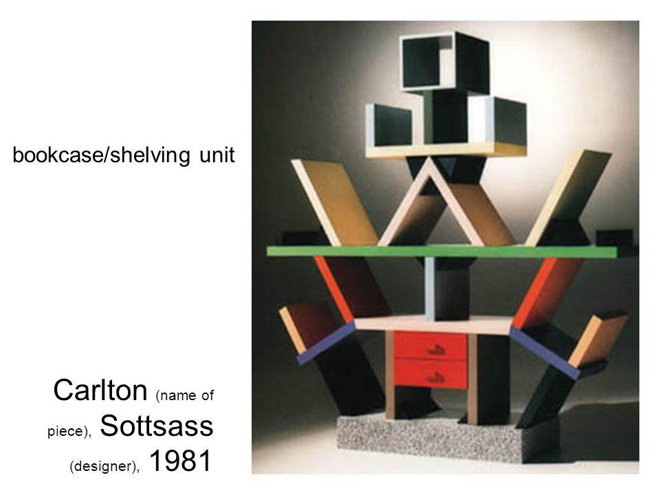 Carlton (name of piece), Sottsass (designer), 1981 bookcase/shelving unit