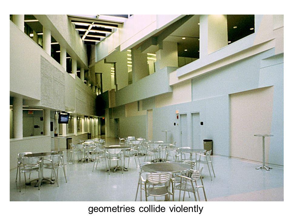 geometries collide violently