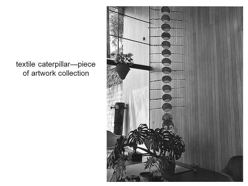 textile caterpillar—piece of artwork collection