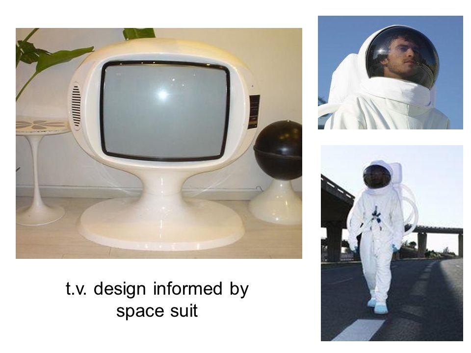 t.v. design informed by space suit