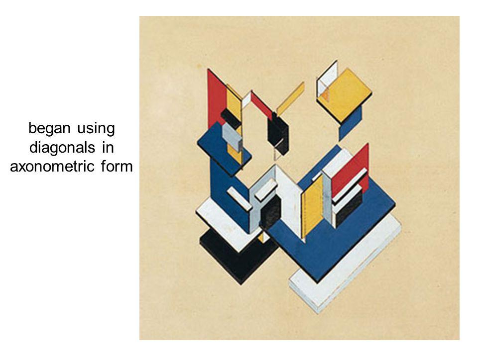 began using diagonals in axonometric form