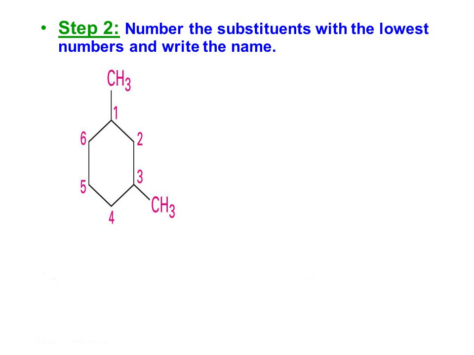 Substituents should have the lowest possible numbers