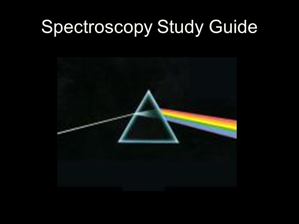 Spectroscopy Spectral analysis provides information about an object's… a.