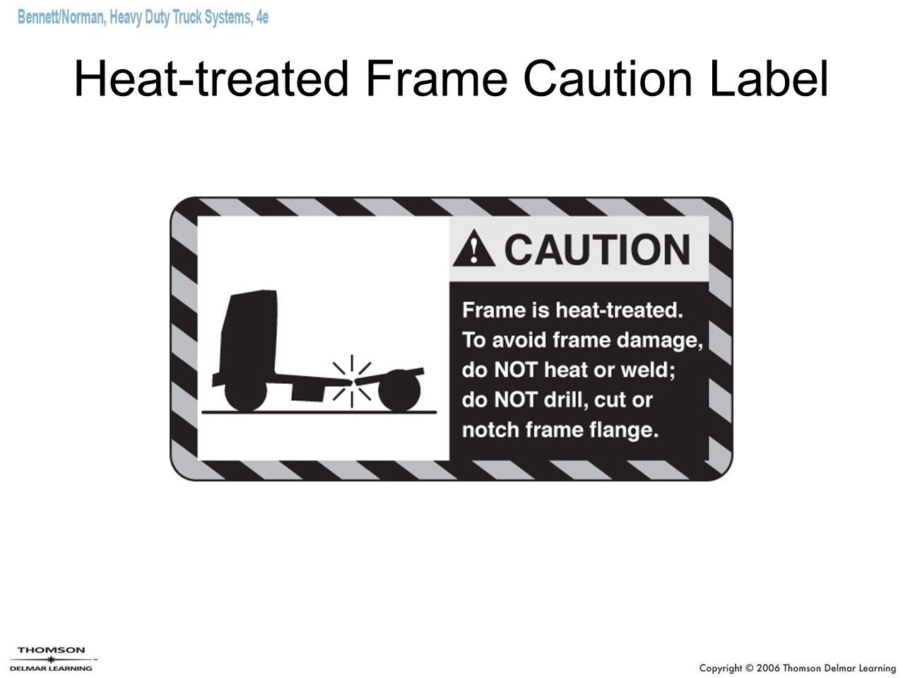 Heat-treated Frame Caution Label