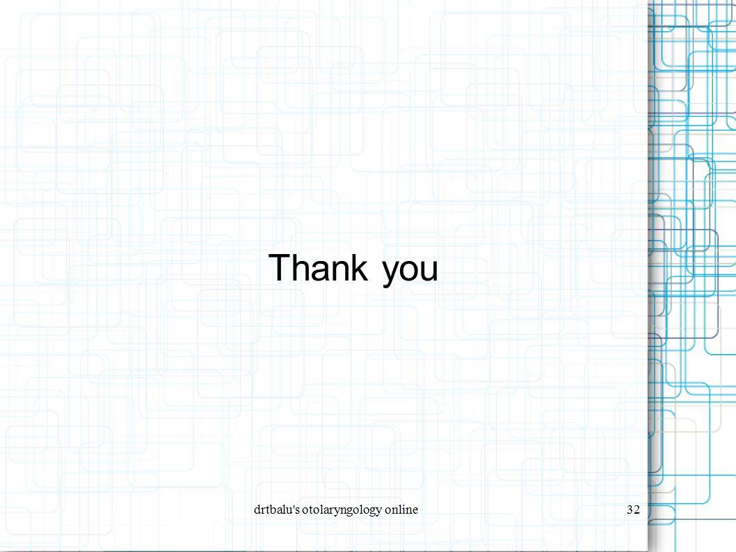 drtbalu s otolaryngology online32 Thank you
