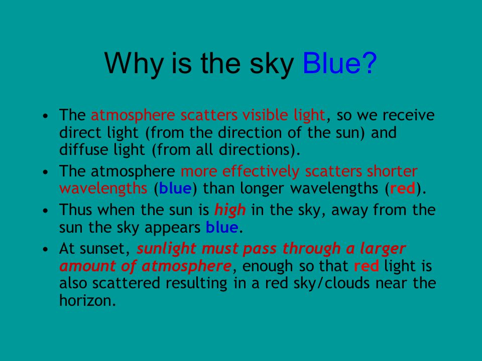Why is the sky Blue.