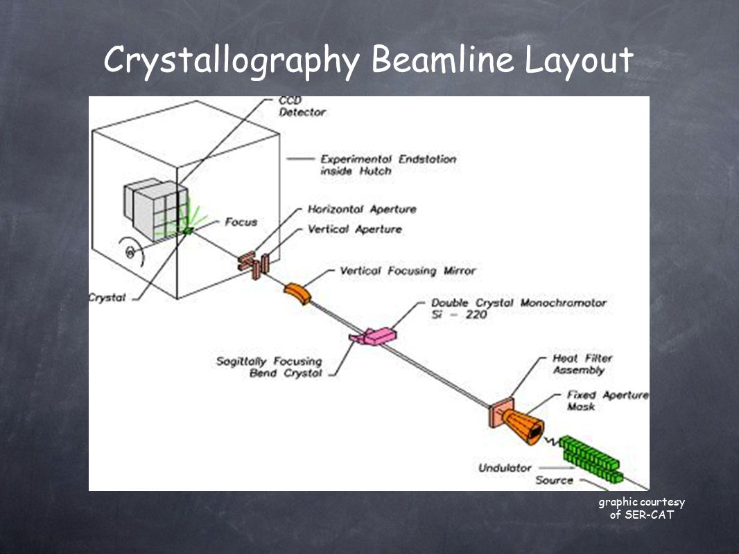 Crystallography Beamline Layout graphic courtesy of SER-CAT