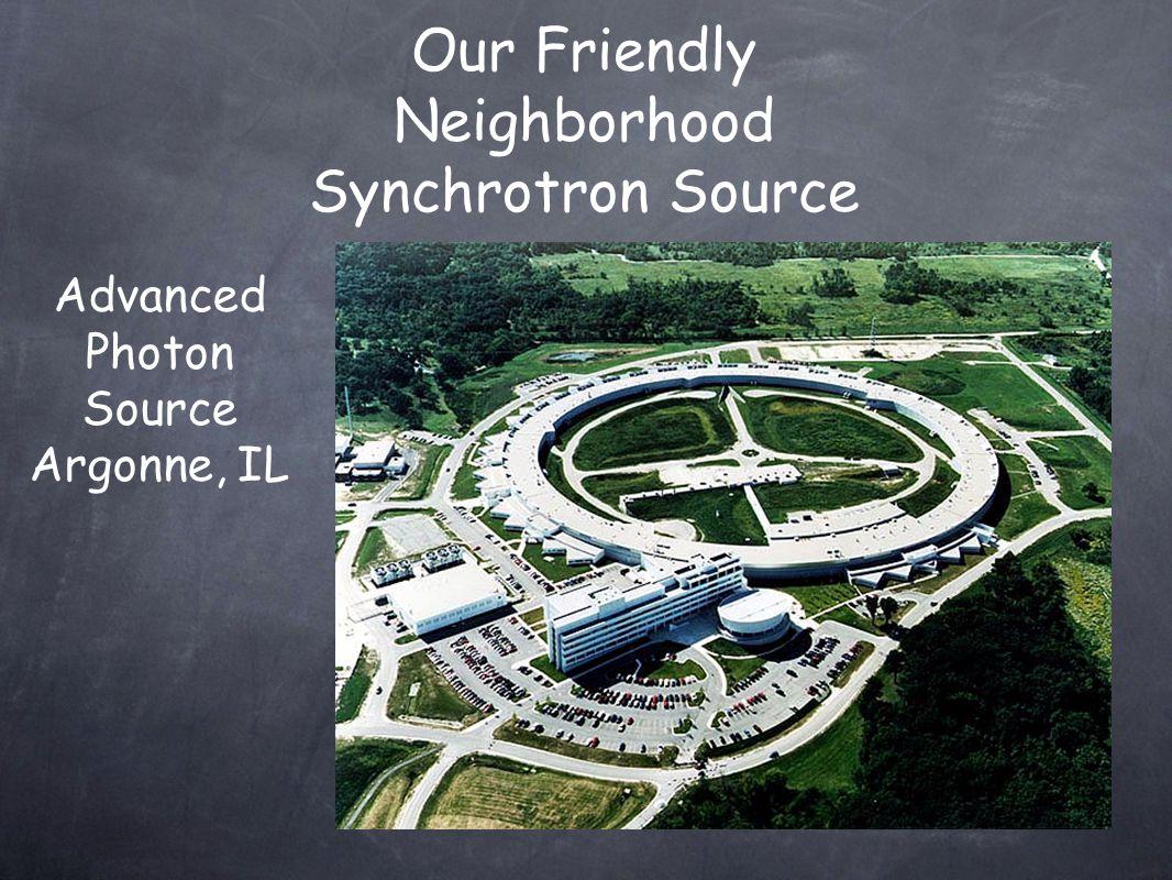 Our Friendly Neighborhood Synchrotron Source Advanced Photon Source Argonne, IL