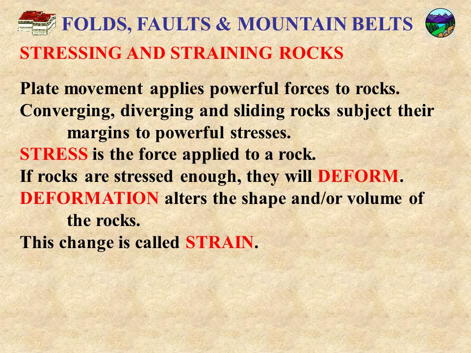 FOLDS, FAULTS & MOUNTAIN BELTS ANTICLINES AND SYNCLINES A SYNCLINE is a trough- or bowl-shaped fold in which the youngest rock forms the core and the limbs dip toward the axis.