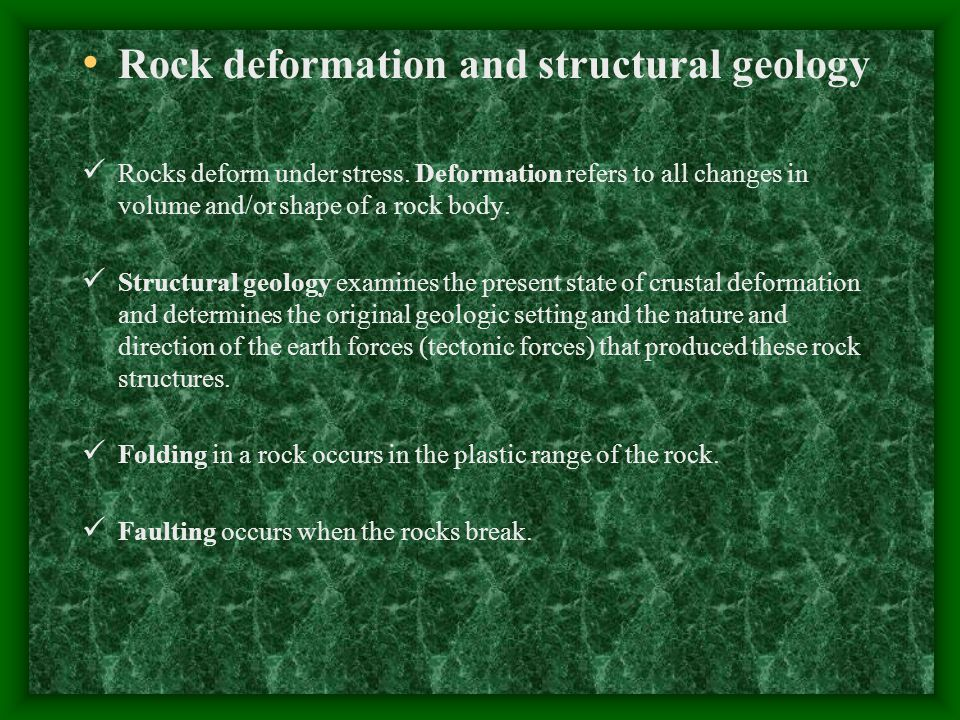 Types of folds anticline: upfolds or arches of rock layers syncline: downfolds or troughs of rock layers.