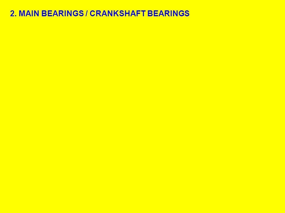 2. MAIN BEARINGS / CRANKSHAFT BEARINGS