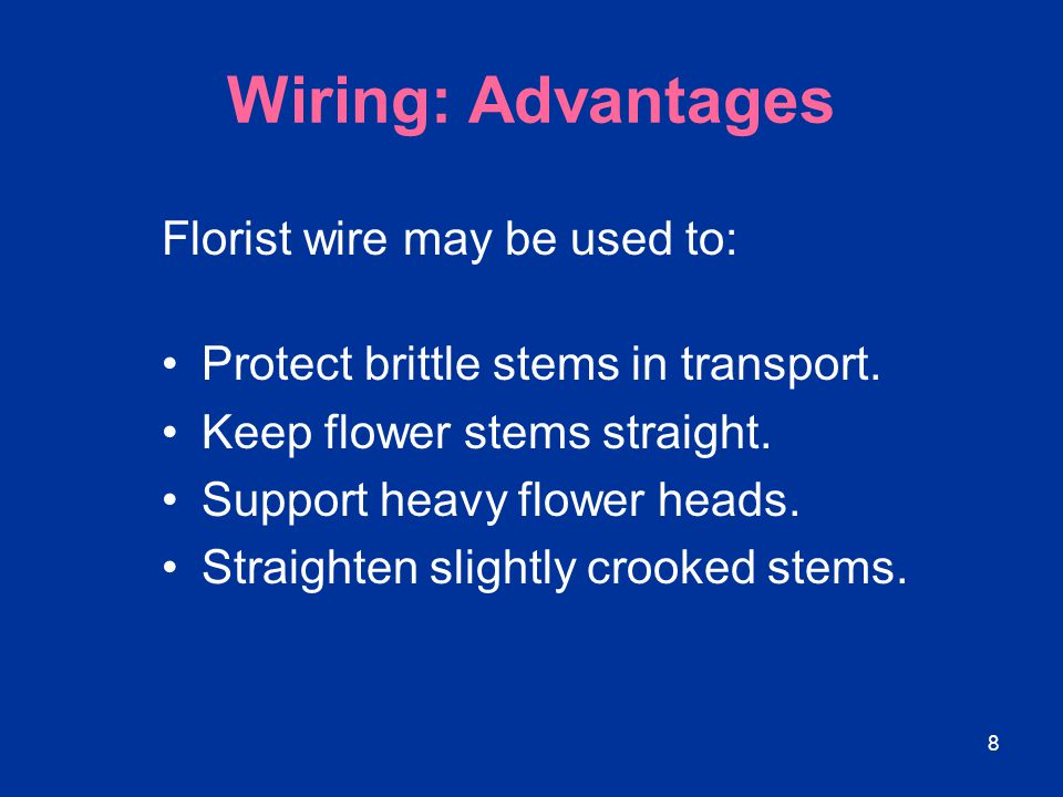 59 Floral Tape Floral tape consists of wax-coated paper that becomes self-adhering when stretched.