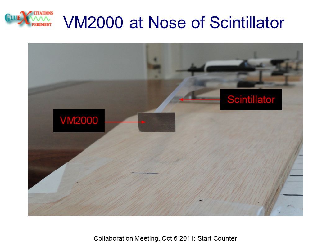 VM2000 at Nose of Scintillator Collaboration Meeting, Oct 6 2011: Start Counter