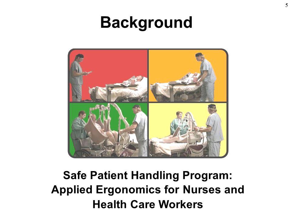5 Background Safe Patient Handling Program: Applied Ergonomics for Nurses and Health Care Workers