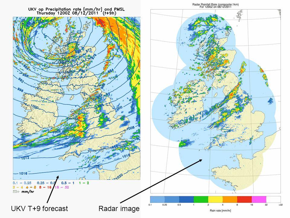 UKV T+9 forecast Radar image