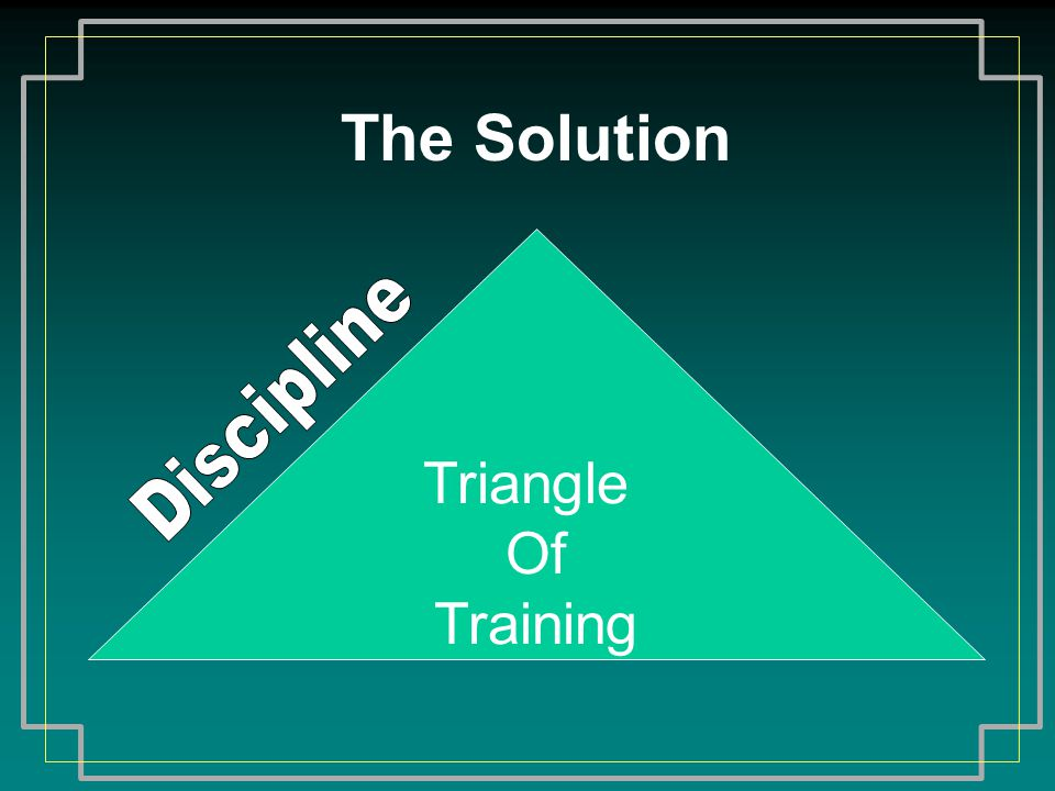 The Solution Triangle Of Training