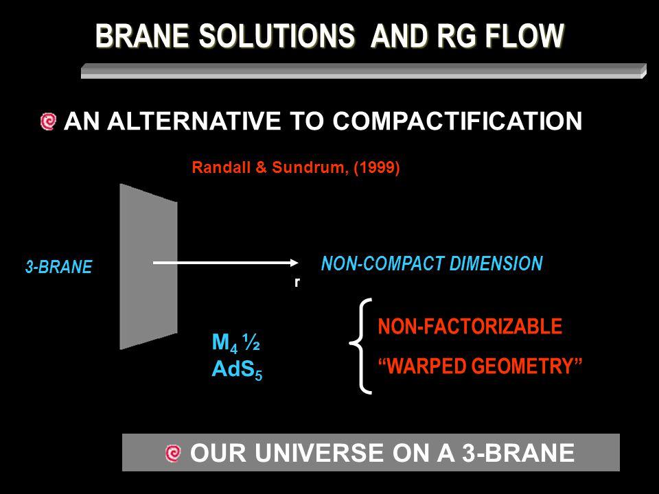 z V(z) BRANE SOLUTIONS AND RG FLOW Massive modes