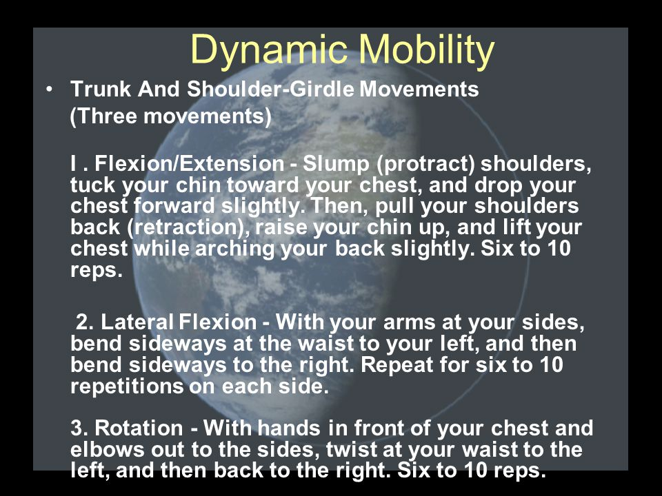 Trunk And Shoulder-Girdle Movements (Three movements) I.