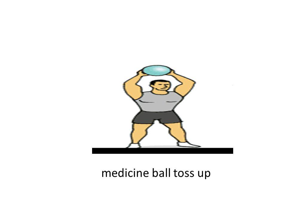 medicine ball toss up