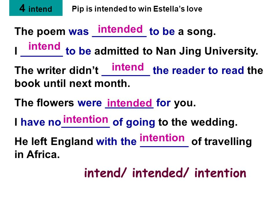 The poem was _________ to be a song. I _______ to be admitted to Nan Jing University.