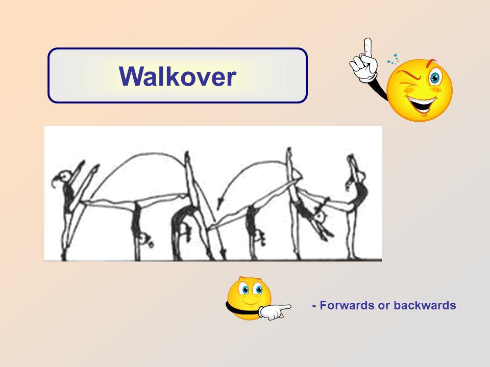 - Forwards or backwards Walkover