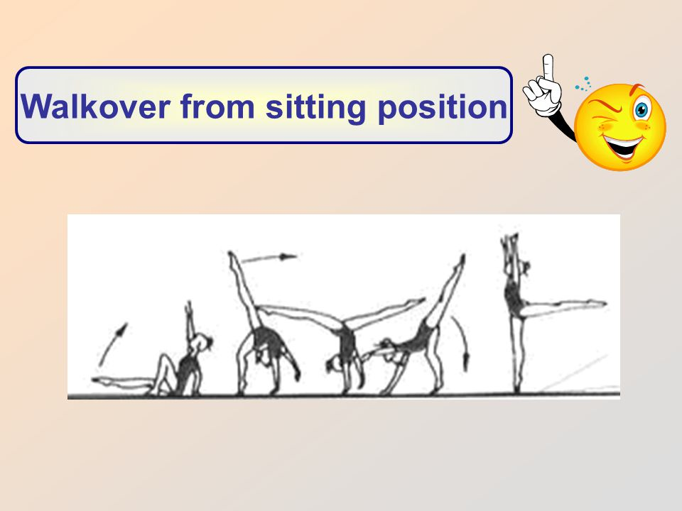 Walkover from sitting position