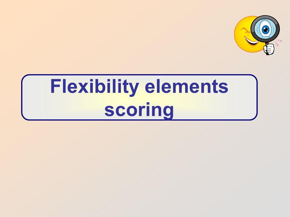 Flexibility elements scoring