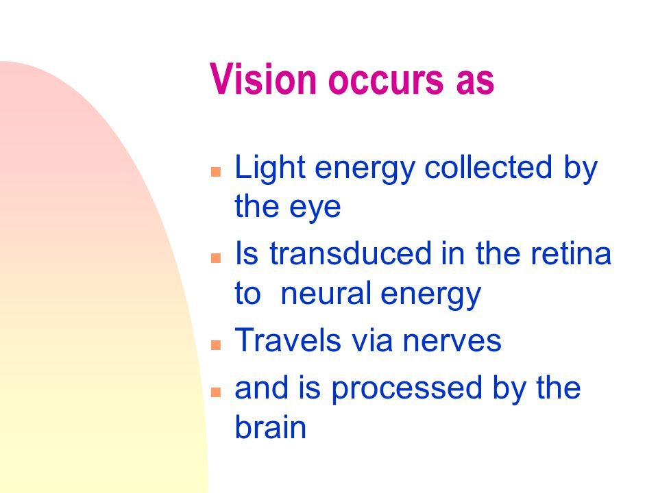 Cataracts n A loss of transparency - usually of the cornea n May be congenital or aquired (uv light) What is the effect on vision ?
