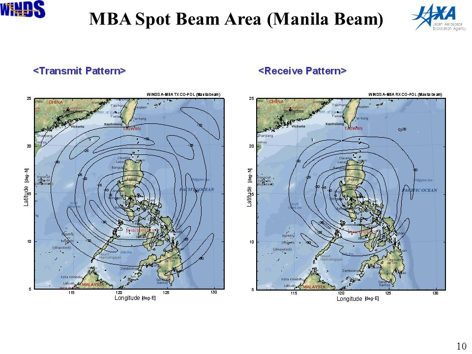 10 Japan Aerospace Exploration Agency MBA Spot Beam Area (Manila Beam)
