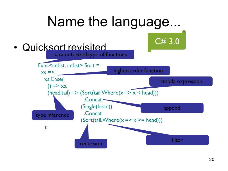 20 Name the language...