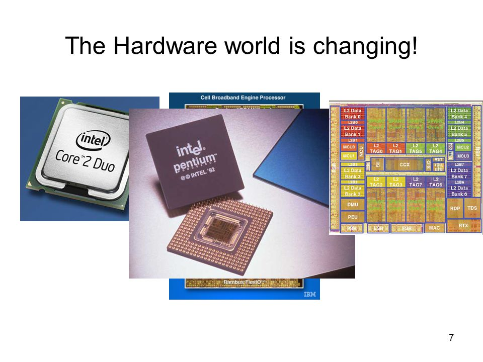 7 The Hardware world is changing!