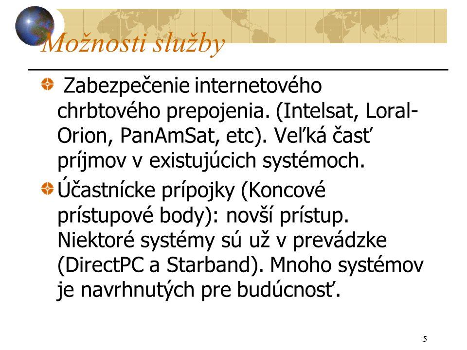 5 Možnosti služby Zabezpečenie internetového chrbtového prepojenia.