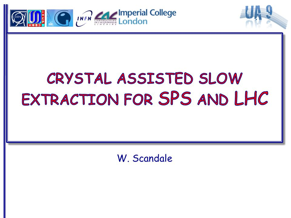 Crystal-aided slow-extraction in the SPS Working group to define  Motivations  Scenario  Crystals and goniometer  Possible test: resources and schedule crystal Far deflection option Crystal location 51895/9