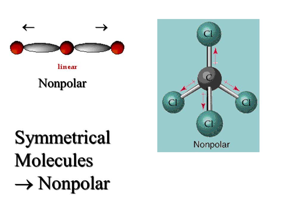   SymmetricalMolecules  Nonpolar Nonpolar