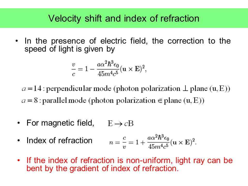 Light velocity in radiation background Light cone condition for non-trivial vacuum induced by the energy density of electromagnetic radiation null propagation vector Velocity shift averaged over polarization