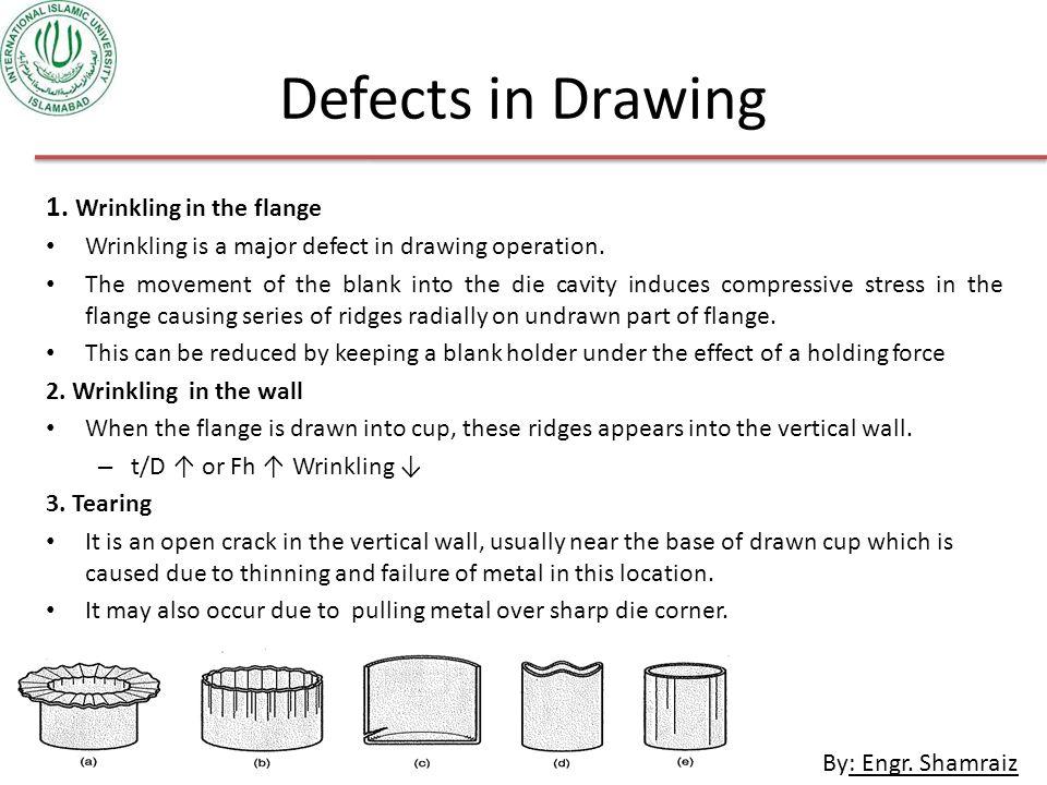 By: Engr.Shamraiz Defects in Drawing 1.