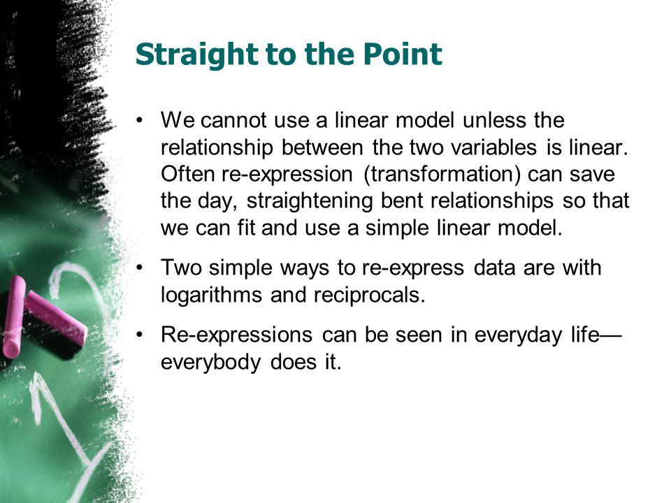 Power Function Procedure 1.Graph scatterplot.2.Determine it is a power function (ie.