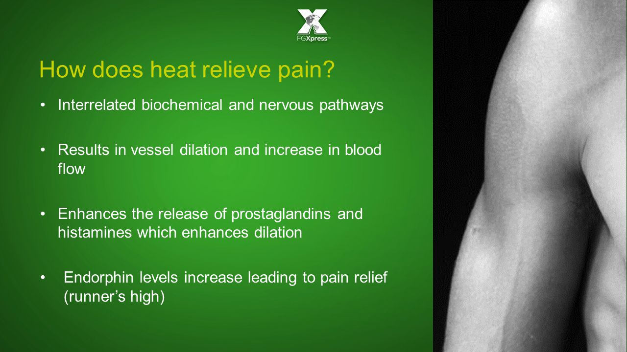 How does heat relieve pain.