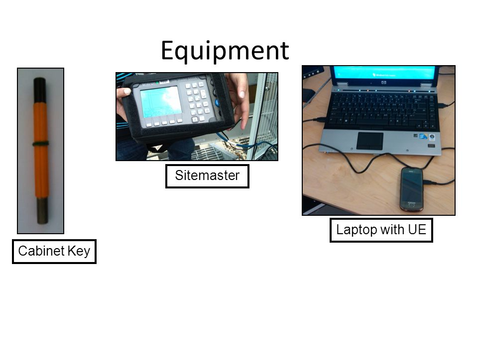 Equipment Cabinet Key Sitemaster Laptop with UE