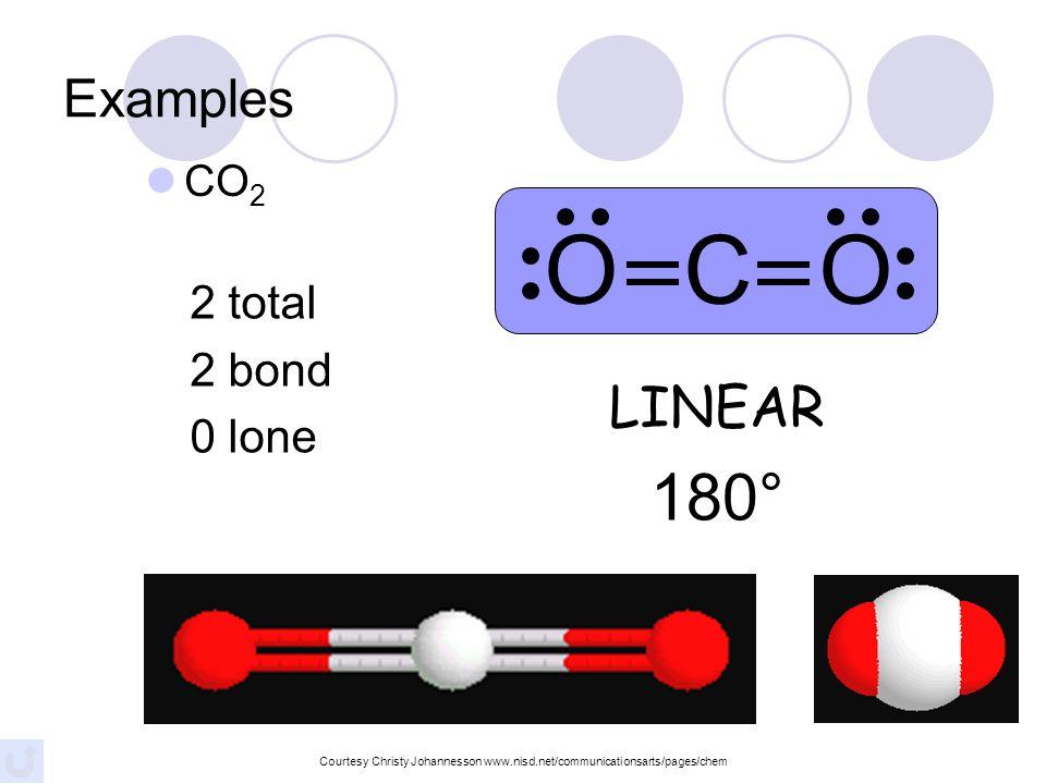 PF 3 4 total 3 bond 1 lone TRIGONAL PYRAMIDAL 107° F P F F Examples Courtesy Christy Johannesson www.nisd.net/communicationsarts/pages/chem