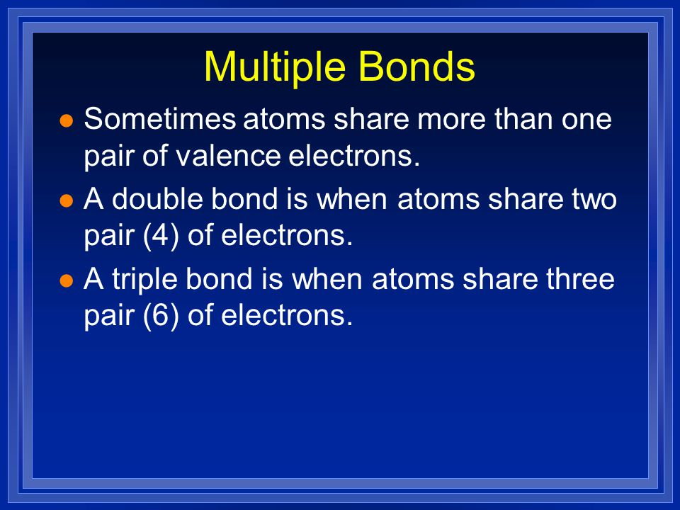 """Lewis Structures 1) Count up total number of valence electrons 2) Connect all atoms with single bonds - """"multiple"""" atoms usually on outside - """"single"""""""