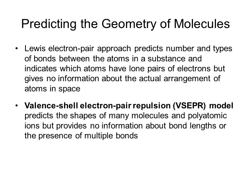 Geometry of Covalent Molecules AB n, and AB n E m AB 2 AB 2 E AB 2 E 2 AB 2 E 3 AB 3 AB 3 E AB 3 E 2 AB 4 AB 4 E AB 4 E 2 AB 5 AB 5 E AB 6 22223334445