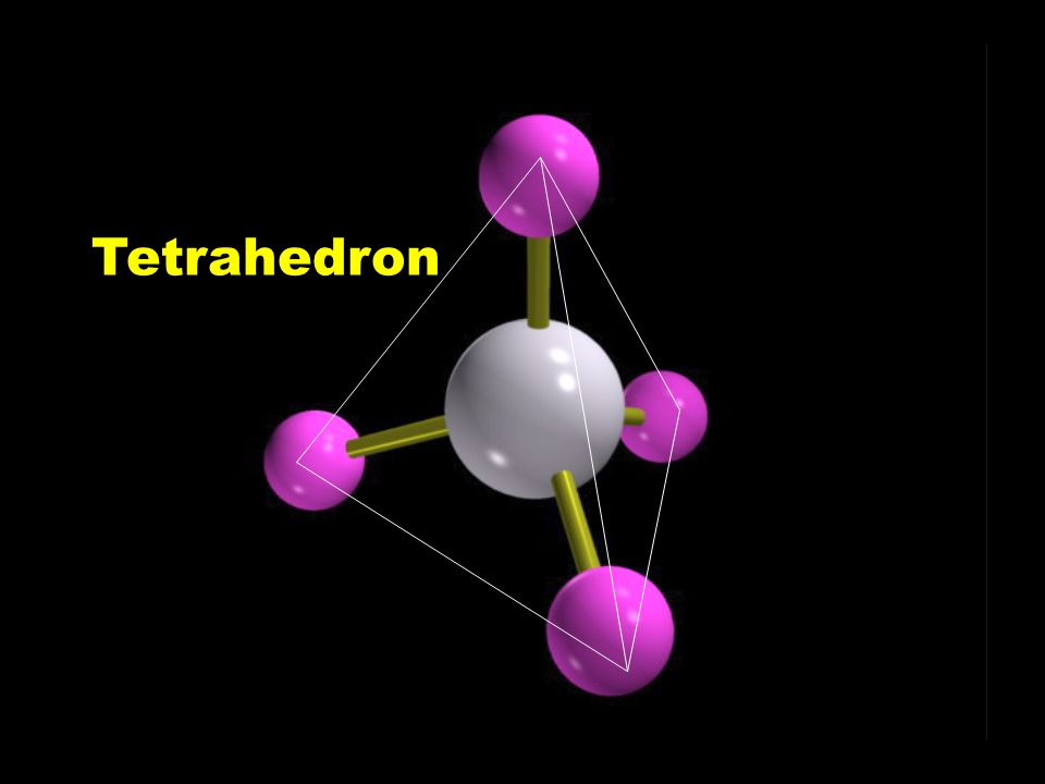 VSEPR l Single bonds fill all atoms.l There are 4 pairs of electrons pushing away.