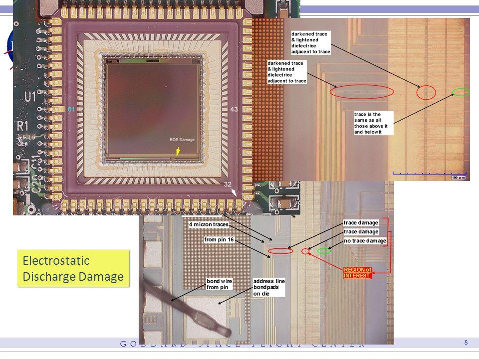 G O D D A R D S P A C E F L I G H T C E N T E R 8 Electrostatic Discharge Damage