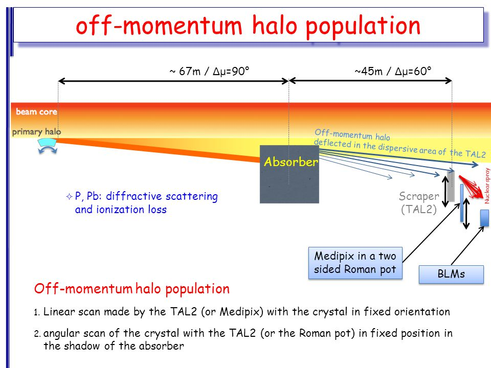 BLMs Off-momentum halo population 1.